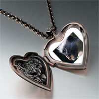 Necklace & Pendants - friendly monkey photo heart locket pendant necklace Image.