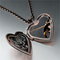 Necklace & Pendants - wedding bands photo heart locket pendant necklace Image.
