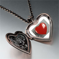 Necklace & Pendants - red heart photo heart locket pendant necklace Image.