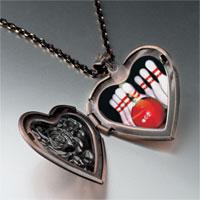 Necklace & Pendants - bowling pins photo heart locket pendant necklace Image.