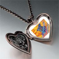 Necklace & Pendants - trumpet sheet music photo heart locket pendant necklace Image.