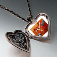 Necklace & Pendants - first chair violin photo heart locket pendant necklace Image.