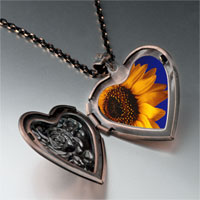 Necklace & Pendants - yellow sunflower photo heart locket pendant necklace Image.