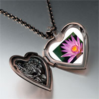 Necklace & Pendants - yellow pink flower photo heart locket pendant necklace Image.