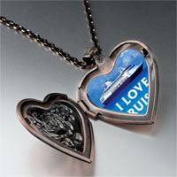 Necklace & Pendants - i love cruises photo heart locket pendant necklace Image.