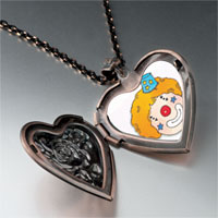 Necklace & Pendants - clown face photo heart locket pendant necklace Image.