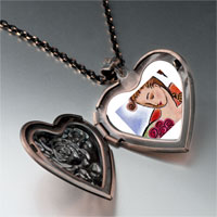 Necklace & Pendants - woman roses photo heart locket pendant necklace Image.