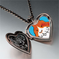 Necklace & Pendants - smiling bunny rabbit photo heart locket pendant necklace Image.