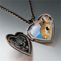 Necklace & Pendants - alert bunny rabbit photo heart locket pendant necklace Image.