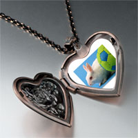 Necklace & Pendants - soccer bunny rabbit photo heart locket pendant necklace Image.