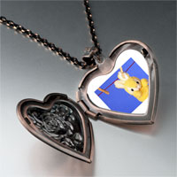 Necklace & Pendants - clothesline bunny rabbit photo heart locket pendant necklace Image.