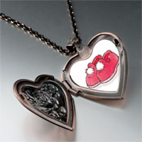 Necklace & Pendants - fuzzy red slippers photo heart locket pendant necklace Image.