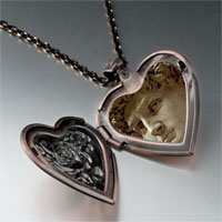 Necklace & Pendants - michelangelo david head photo heart locket pendant necklace Image.
