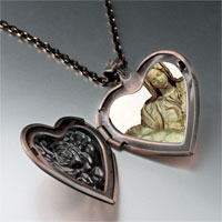 Necklace & Pendants - michelangelo pieta art photo heart locket pendant necklace Image.