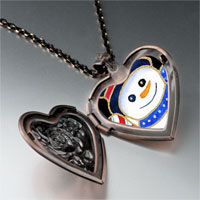 Necklace & Pendants - jewelry christmas gifts snowman halloween candy cane photo heart locket pendant necklace Image.