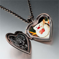 Necklace & Pendants - jewelry christmas gifts snowman photo photo heart locket pendant necklace Image.