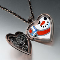 Necklace & Pendants - jewelry sunset christmas gifts snowman photo heart locket pendant necklace Image.