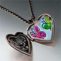 Necklace & Pendants - butterfly times photo heart locket pendant necklace Image.