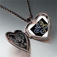 Necklace & Pendants - butterfly outline photo heart locket pendant necklace Image.