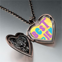 Necklace & Pendants - best friends colorful photo heart locket pendant necklace Image.
