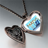 Necklace & Pendants - birthday party 21  photo heart locket pendant necklace Image.