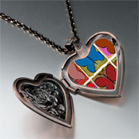 Necklace & Pendants - colorful butterfly print photo heart locket pendant necklace Image.