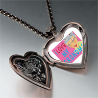 Necklace & Pendants - i love grandma photo heart locket pendant necklace Image.