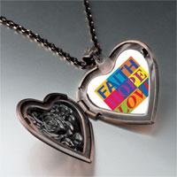Necklace & Pendants - faith hope love photo photo heart locket pendant necklace Image.