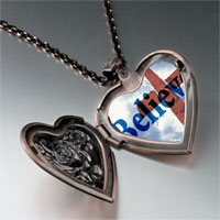 Necklace & Pendants - believe cross photo heart locket pendant necklace Image.