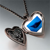 Necklace & Pendants - ocean stingray photo heart locket pendant necklace Image.