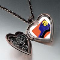 Necklace & Pendants - black cat bat photo heart locket pendant necklace Image.