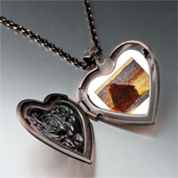 Necklace & Pendants - monet wheatstack photo heart locket pendant necklace Image.