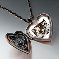 Necklace & Pendants - picasso guernica art photo heart locket pendant necklace Image.
