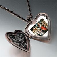 Necklace & Pendants - botticelli primavera art photo heart locket pendant necklace Image.