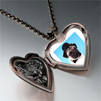 Necklace & Pendants - dog in a derby hat photo heart locket pendant necklace Image.