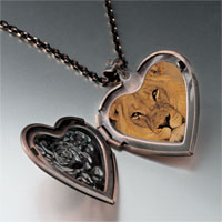 Necklace & Pendants - king jungle lion photo heart locket pendant necklace Image.
