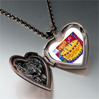 Necklace & Pendants - birthday cake candles photo heart locket pendant necklace Image.
