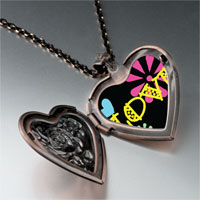 Necklace & Pendants - love hearts flowers photo heart locket pendant necklace Image.