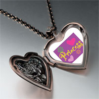 Necklace & Pendants - princess hearts flowers photo heart locket pendant necklace Image.