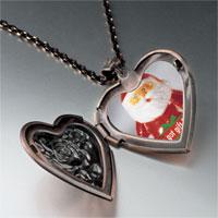 Necklace & Pendants - santa clause got gift photo heart locket pendant necklace Image.