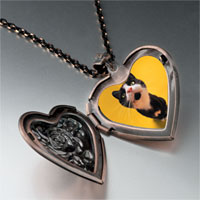 Necklace & Pendants - cat yawning photo heart locket pendant necklace Image.