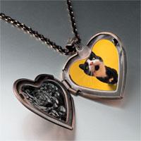 Necklace & Pendants - cat yawning photo heart locket pendant necklace Image.