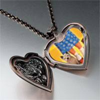 Necklace & Pendants - dorothy' s red shoes toto photo heart locket pendant necklace Image.