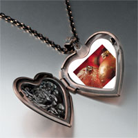 Necklace & Pendants - christmas ornament glitter balls photo heart locket pendant necklace Image.