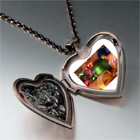Necklace & Pendants - christmas necklace christmas tree gifts decorations photo heart locket pendant necklace Image.