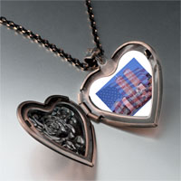 Necklace & Pendants - american twin towers heart locket pendant necklace Image.