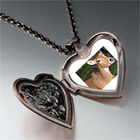 Necklace & Pendants - deer in trees heart locket pendant necklace Image.
