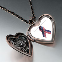 Necklace & Pendants - usa flag ribbon heart locket pendant necklace Image.