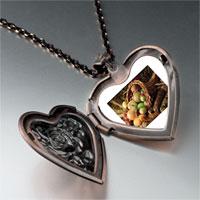 Necklace & Pendants - thanksgiving horn plenty heart locket pendant necklace Image.
