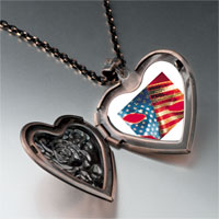 Necklace & Pendants - usa flag mask heart locket pendant necklace Image.